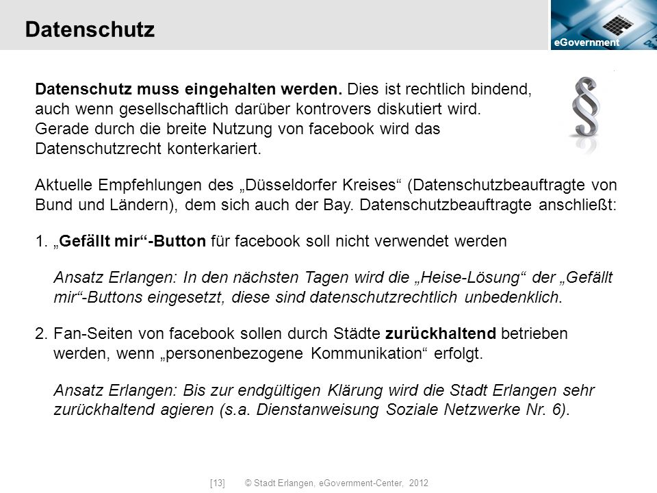 [13] © Stadt Erlangen, eGovernment-Center, 2012